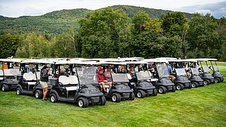 Group of Golf Carts