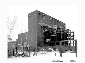 old photo of operating power plant