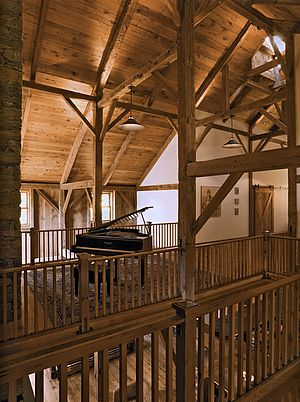barn structure repurposed for use as a recording studio