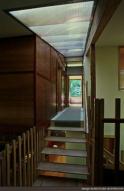 Interior of stair and hall/bridge