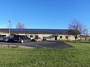 solar collector array on sloped roof