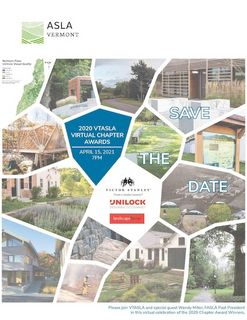 Vermont American Society of Landscape Architects 2020 Chapter Awards
